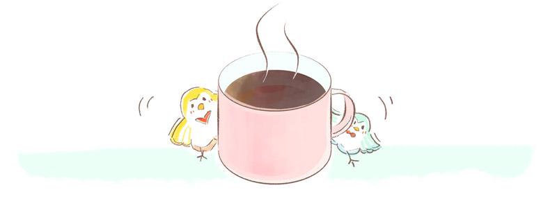 休憩にコーヒーをすすめるイラスト