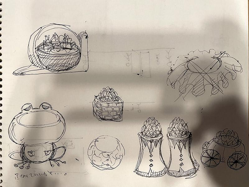多肉植物の鉢のデザインアイディア