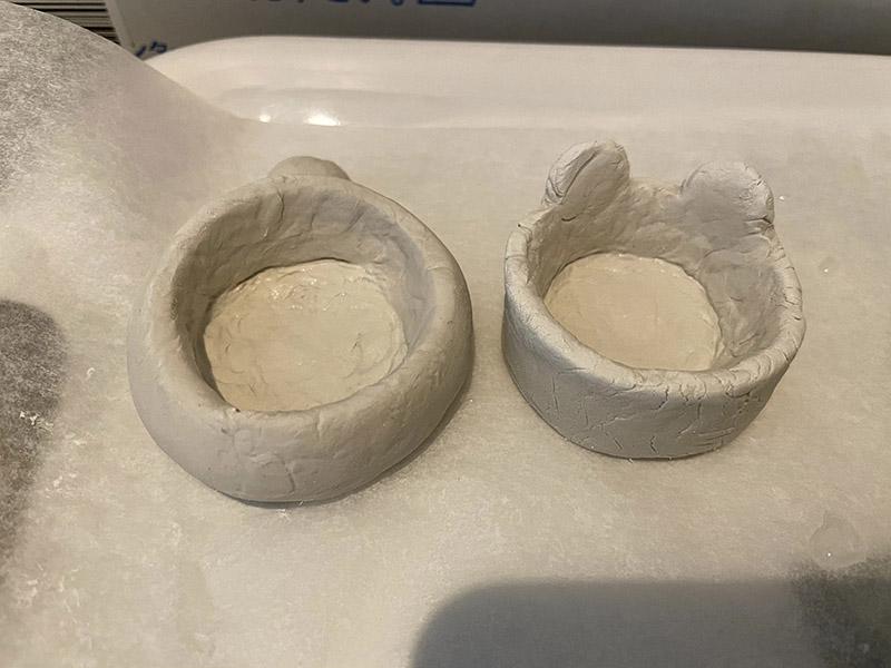 石粉粘土で多肉植物の鉢を作る