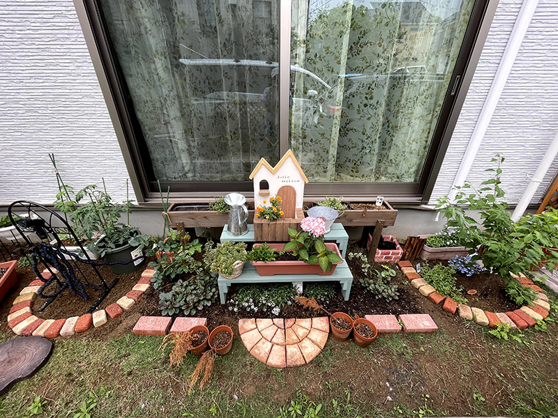 庭の構想を実現