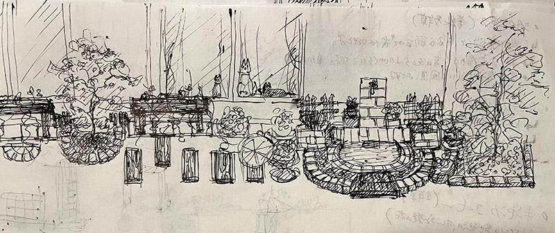 庭の構想のイラスト